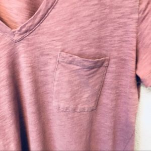 Madewell Tops - Madewell V-neck T-shirt heathered purple medium